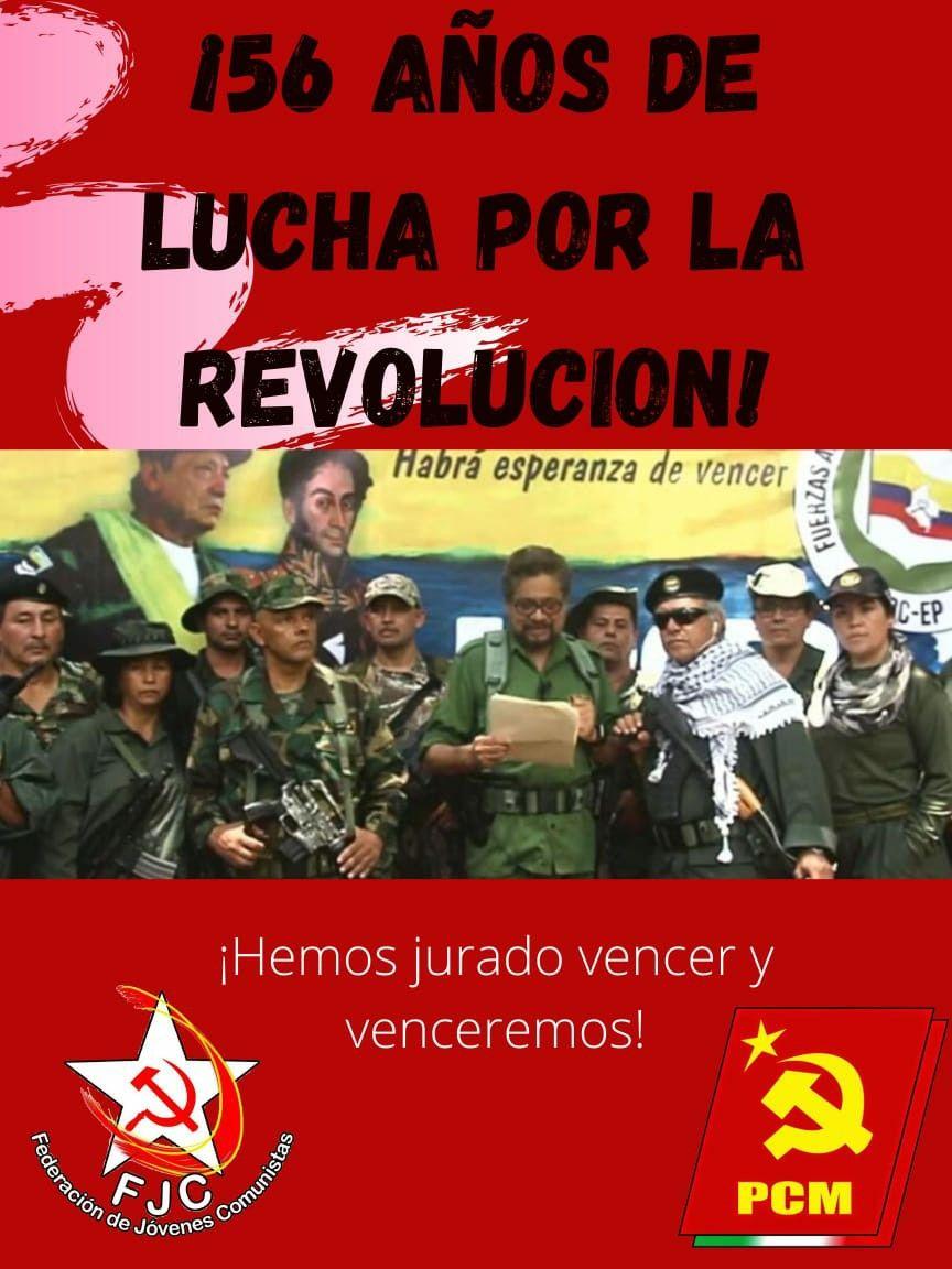 Saludo del Partido Comunista de México - 56 Aniversario de las FARC-EP